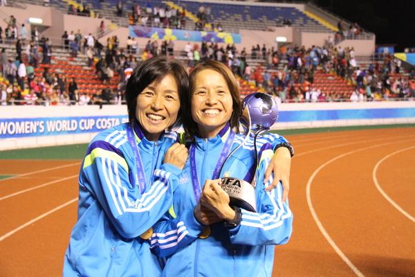 U-17女子日本代表 高倉監督と大部コーチ