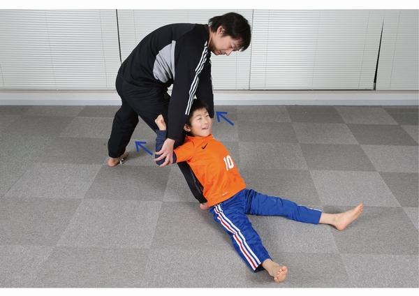 胸と股関節のストレッチ