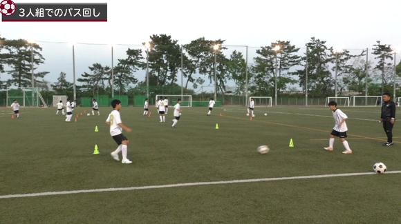 前を見ながら正確なボール扱いを身に付けるトレーニング/ドリブルとパスを判断よく使い分けるための指導法