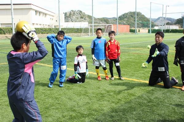 GKコースの様子(2014春キャンプ)