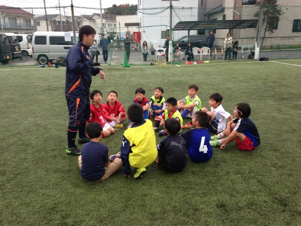 サッカー教室の様子