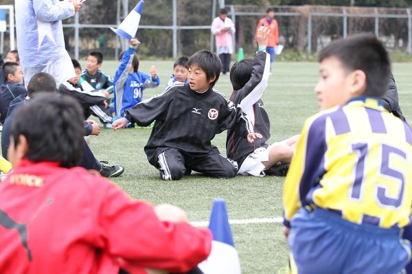 少年サッカーシーン