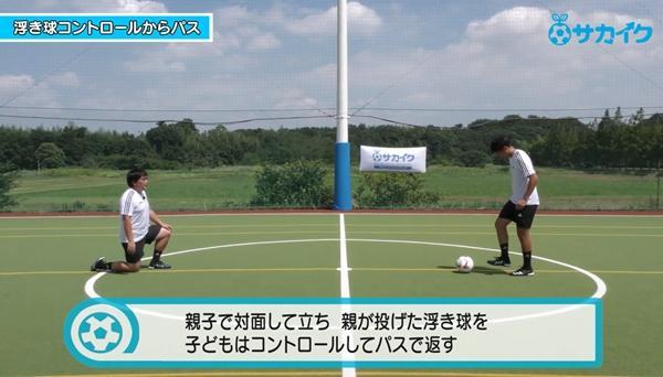 【サッカートレーニング】浮き球をコントロールして素早くパスを出せるようになる練習