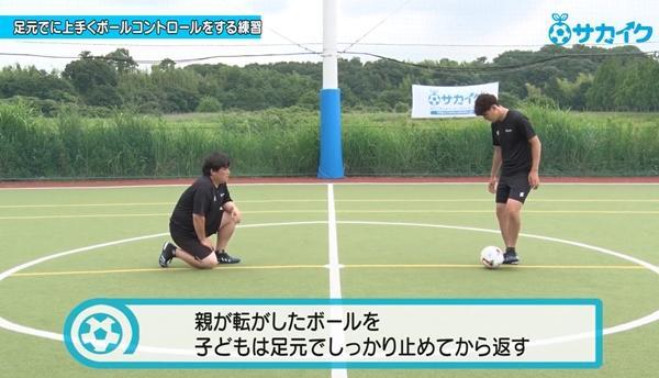【サッカートレーニング】ボールを足元で上手にコントロールできるようになる練習